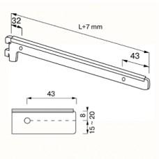 NX-22 Кронштейн для полок 200 mm